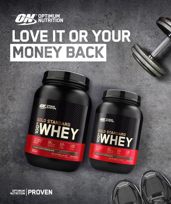 Optimum Nutrition Money Back Guarantee Promotion